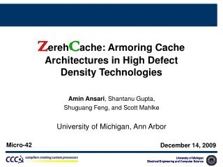 Architectures  in High Defect  Density Technologies