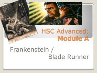 HSC Advanced: Module A