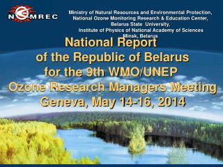 National Report  of the Republic of Belarus
