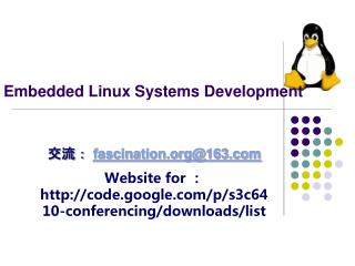 Embedded Linux  Systems Development