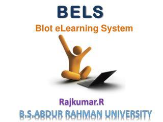Blot eLearning System
