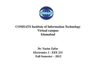 COMSATS Institute of Information Technology Virtual campus Islamabad