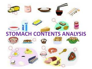 STOMACH CONTENTS ANALYSIS