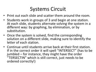 Systems Circuit
