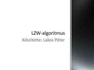 LZW-algoritmus