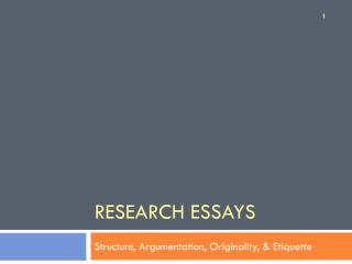 Research Essays
