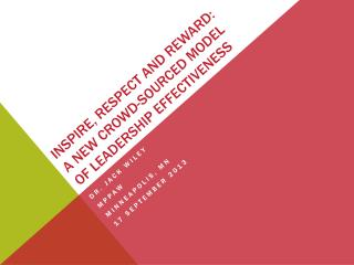 Inspire , Respect and Reward: a New Crowd-Sourced Model of Leadership  Effectiveness