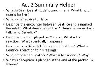 Act 2 Summary Helper