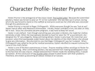 Character Profile- Hester Prynne