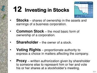 12  Investing in Stocks
