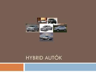 Hybrid  autók