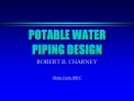 POTABLE WATER PIPING DESIGN