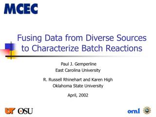 Fusing Data from Diverse Sources to Characterize Batch Reactions