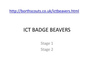 ICT BADGE BEAVERS