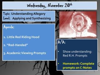 Wednesday,  November  28 th