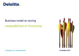 Business model en sturing vastgoedbeheer en financiering