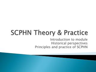 SCPHN Theory & Practice