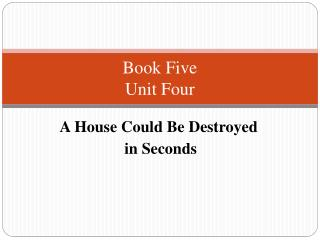 Book Five  Unit Four