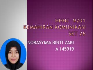 HHHC   9201 KEMAHIRAN  komunikasi set 26