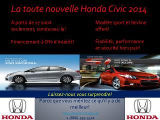 La toute nouvelle Honda Civic 2014