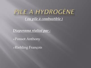 Pile a hydrogène