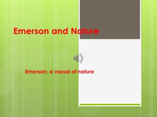Emerson and Nature