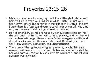 Proverbs 23:15-26
