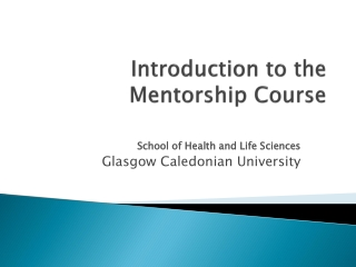 Mentoring at the School of Nursing