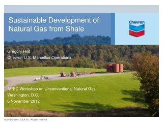 Sustainable Development of Natural Gas from Shale
