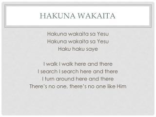 Hakuna Wakaita
