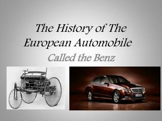 The History of The European Automobile