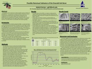 Possible Nonvisual  I ndicators of the Emerald Ash Borer Gabriel Horton – gdr7@unh