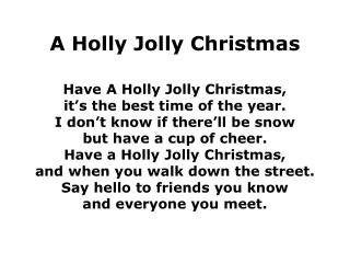 A Holly Jolly Christmas