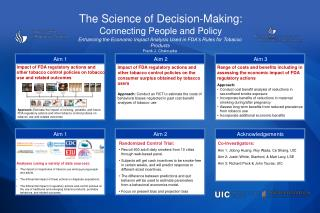 The Science of Decision-Making: Connecting People and Policy