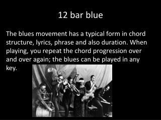 12 bar blue