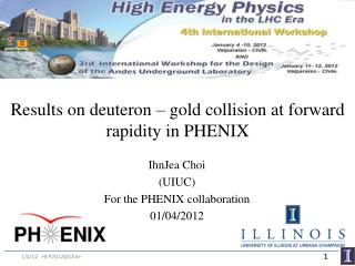 Results on deuteron – gold collision at forward rapidity in PHENIX