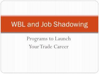WBL and Job Shadowing