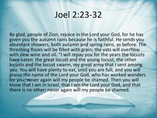 Joel 2:23-32