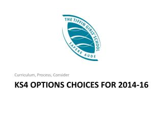 KS4 Options Choices for 2014-16