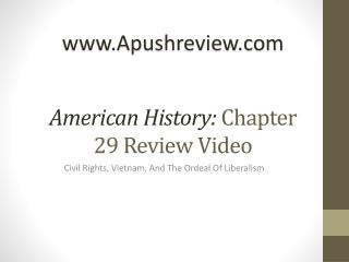 American History:  Chapter  29  Review Video