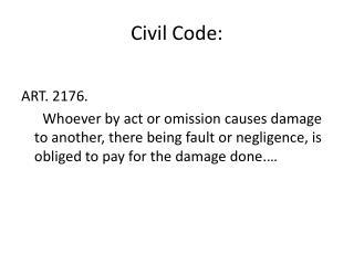 Civil  Code: