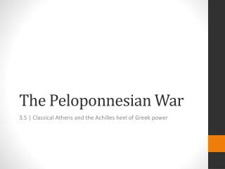 what impact did the peloponnesian war have on the greek Herodotus was still alive at the start of the peloponnesian war, but another greek,  according to thucydides, how did the  and thucydides probably would have.
