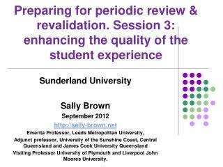 Sunderland University Sally Brown September 2012 sally-brown