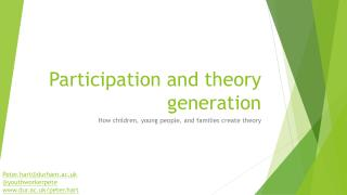 Participation and theory generation