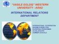 VASILE GOLDIS  WESTERN UNIVERSITY - ARAD