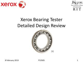 Xerox Bearing Tester Detailed Design Review