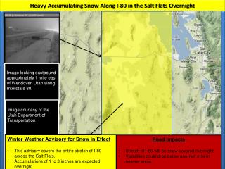 Heavy Accumulating Snow Along I-80 in the Salt  Flats Overnight
