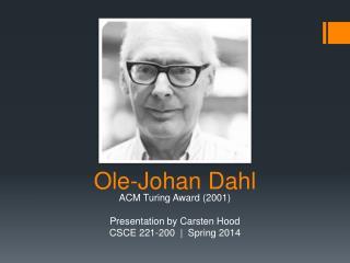 Ole-Johan Dahl