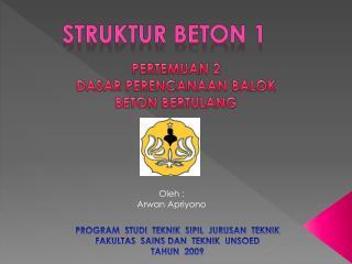 STRUKTUR BETON 1