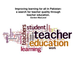 Quality and equality in student learning